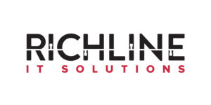 Richline logo with line and network nodes